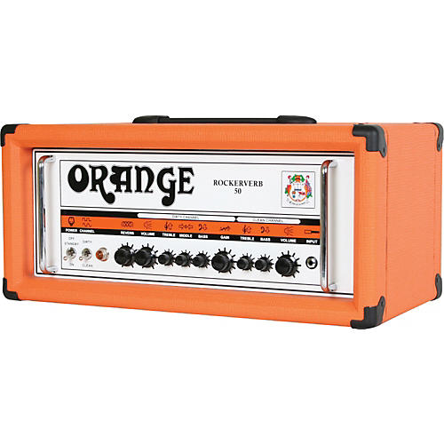 Orange Amplifiers Rockerverb 50 RK50HTC 50W Tube Guitar Amp Head-thumbnail