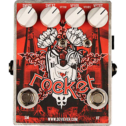 Devi Ever Rocket Fuzz and Tremolo Guitar Effects Pedal