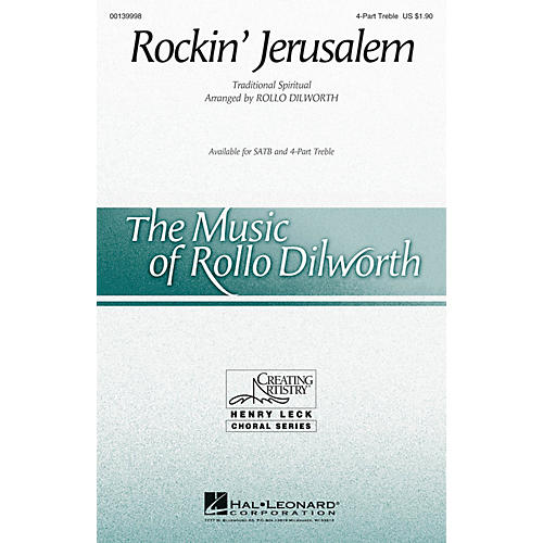 Hal Leonard Rockin' Jerusalem 4 Part Treble arranged by Rollo Dilworth