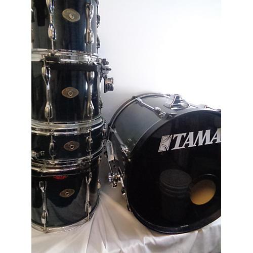 used tama rockstar drum kit trans blue guitar center. Black Bedroom Furniture Sets. Home Design Ideas