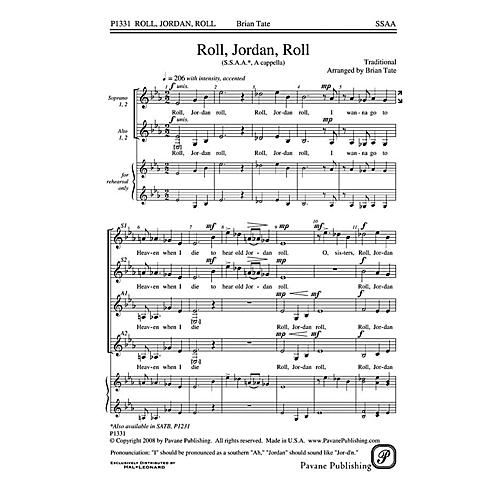Pavane Roll, Jordan, Roll SSAA A Cappella arranged by Brian Tate
