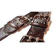 "Roller Buckle Leather 2.5"" Wide Guitar Strap"