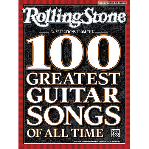 Alfred Rolling Stone: 34 Selections from the 100 Greatest Guitar Songs of All Time - Tab Book-thumbnail