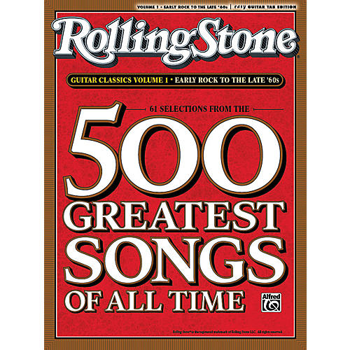 Alfred Rolling Stone 500 Greatest Songs Of All Time Guitar Classics Volume 1