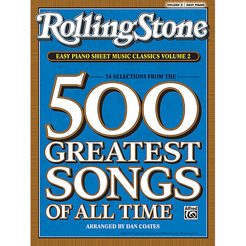Alfred Rolling Stone Easy Piano Sheet Music Classics Volume 2 (Book)-thumbnail