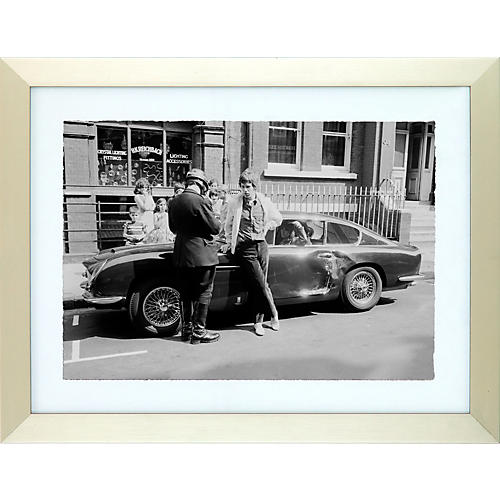 Mirrorpix Rolling Stones No Satisfaction Black and White Framed Print