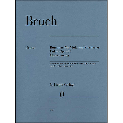 G. Henle Verlag Romance for Viola and Orchestra in F Major Op. 85 By Bruch-thumbnail