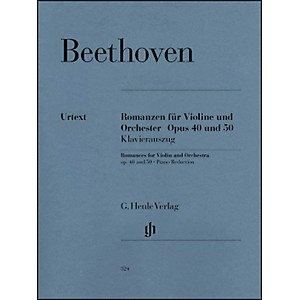 G. Henle Verlag Romances for Violin and Orchestra Op. 40 and 50 in G and F Ma...