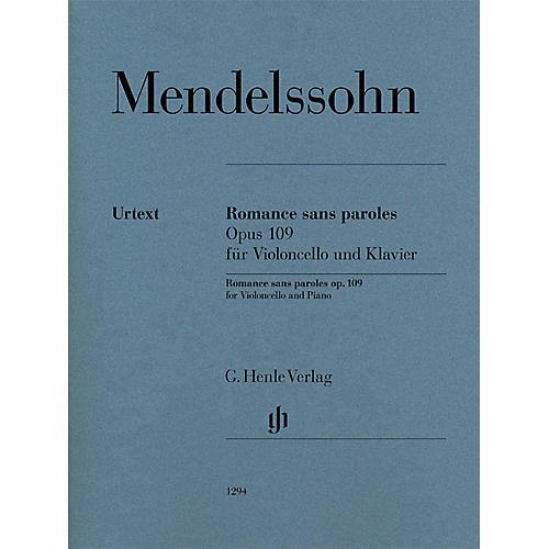 G. Henle Verlag Romances sans paroles, Op. 109 (Cello and Piano) Henle Music Folios Series Softcover