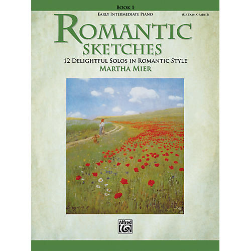 Alfred Romantic Sketches Early Intermediate Piano Book 1-thumbnail