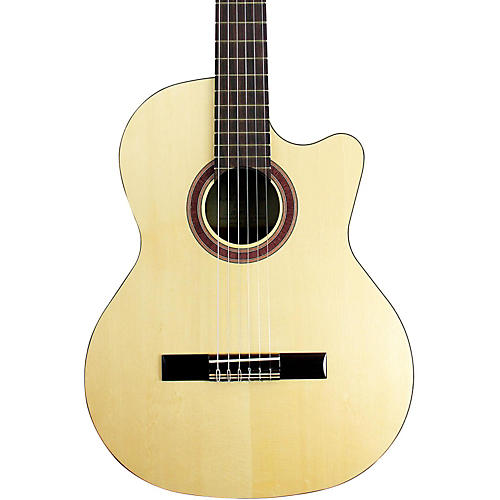 Kremona Rondo Cutaway Acoustic-Electric Classical Guitar with Hardshell Case Natural  UsedGrade1-thumbnail