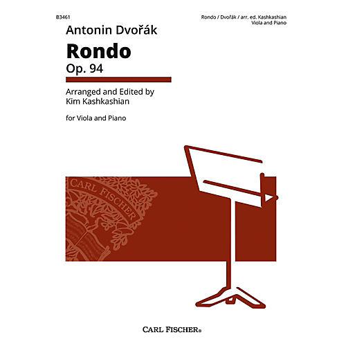 Carl Fischer Rondo Op. 94 Antonin Dvorak for Viola & Piano-thumbnail