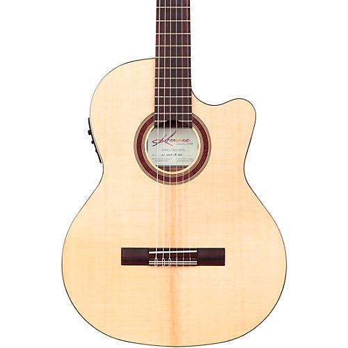 Kremona Rondo Thin Line Classical Acoustic-Electric Guitar Natural