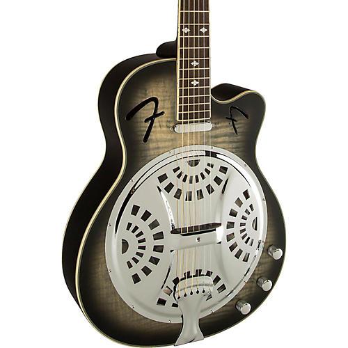 Fender Roosevelt CE Acoustic-Electric Resonator Guitar Moonlight Black Burst