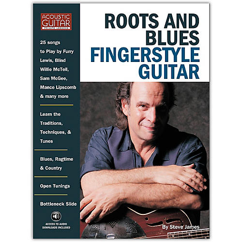 String Letter Publishing Roots and Blues Fingerstyle Guitar (Book/Online Audio)-thumbnail