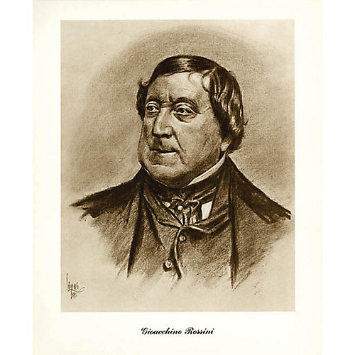 Music Sales Rossini (Lupas Small Portrait Poster) Music Sales America Series