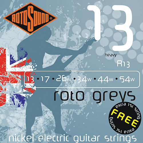 Rotosound Roto Greys Heavy Electric Guitar Strings