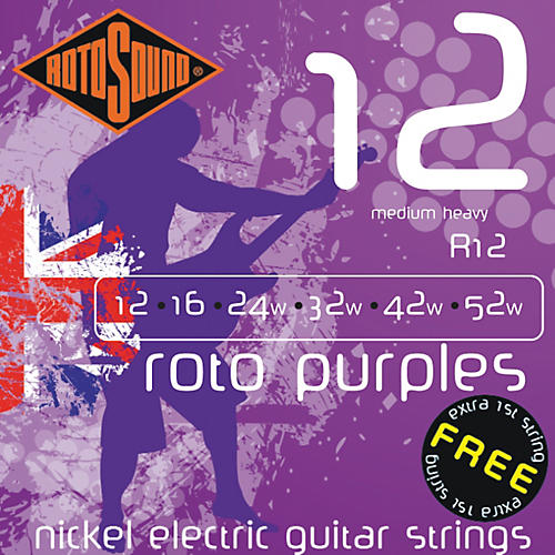 Rotosound Roto Purples Medium Heavy Electric Guitar Strings-thumbnail