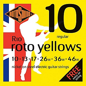 Rotosound Roto Yellows Electric Guitar Strings by Rotosound