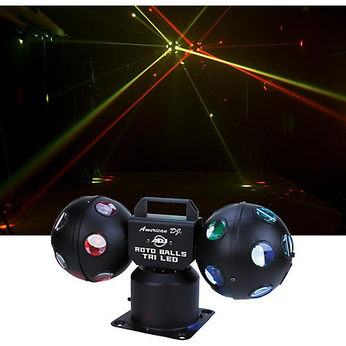 American DJ Rotoballs Tri LED Light Effect-thumbnail