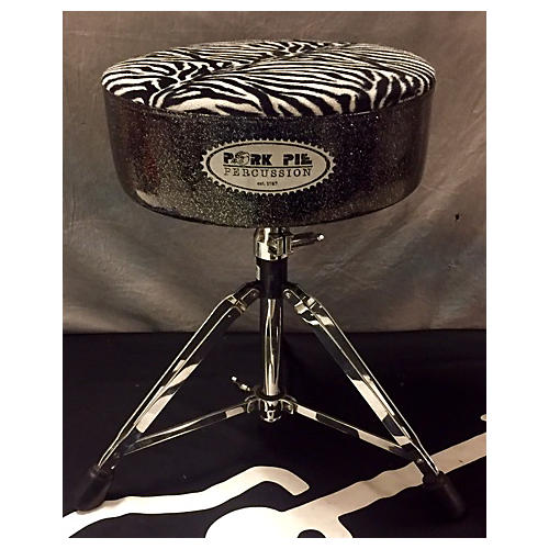 Pork Pie Round Char/zebra Drum Throne