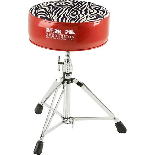Pork Pie Round Drum Throne Red With Zebra Top Guitar Center