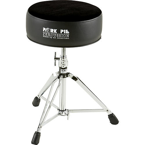 Pork Pie Round Drum Throne Solid Black Guitar Center