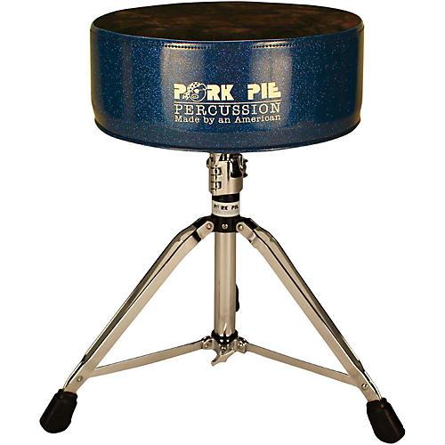 pork pie round throne with black crush top blue sparkle guitar center. Black Bedroom Furniture Sets. Home Design Ideas