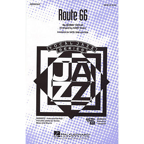 Hal Leonard Route 66 IPAKR Arranged by Kirby Shaw