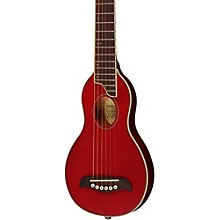 Rover Travel Guitar Transparent Red