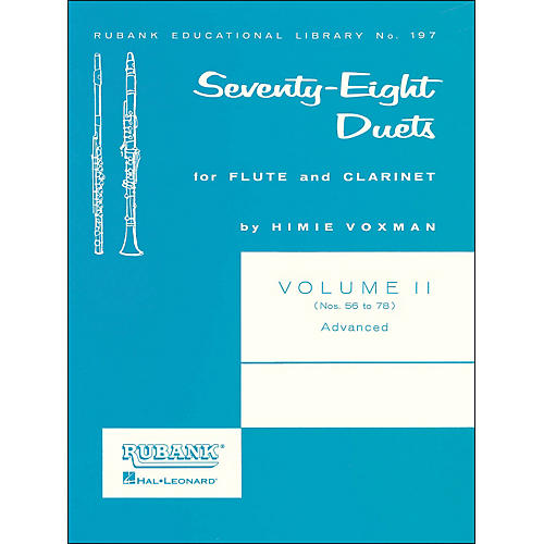 Hal Leonard Rubank 78 Duets for Flute And Clarinet Vol 2 Advanced-thumbnail