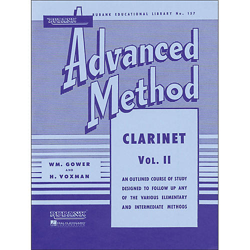 Hal Leonard Rubank Advanced Method for Clarinet Volume 2-thumbnail