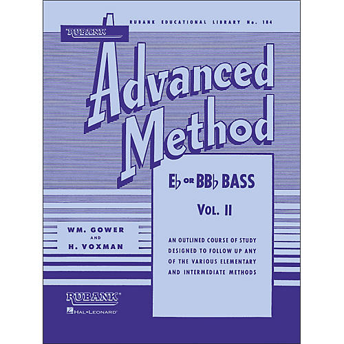 Hal Leonard Rubank Advanced Method for E Flat Or BB-Flat Bass Volume 2-thumbnail