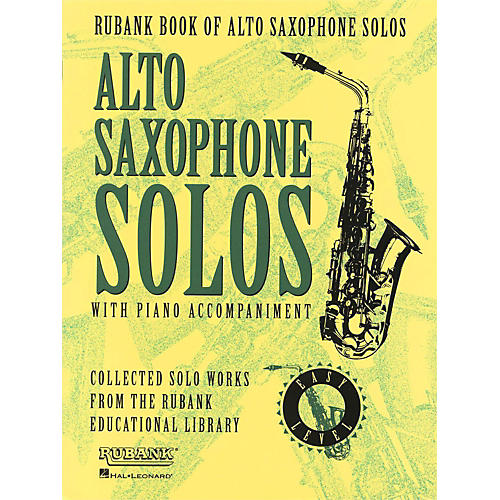 Hal Leonard Rubank Book Of Alto Saxophone Solos with Piano Accompaniment - Easy Level-thumbnail