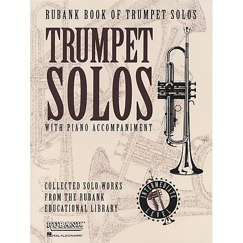 Hal Leonard Rubank Book Of Trumpet Solos Intermediate Level-thumbnail