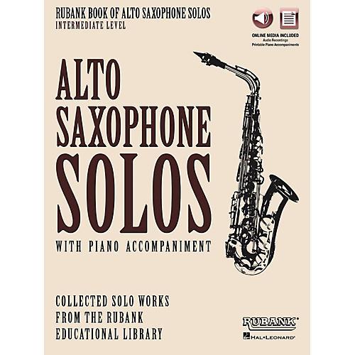 Hal Leonard Rubank Book of Alto Sax Solos - Intermediate Level Book/Audio Online-thumbnail