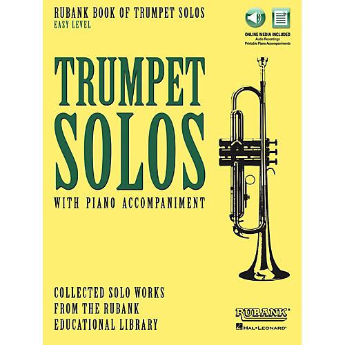 Hal Leonard Rubank Book of Trumpet Solos - Easy Level Book/Audio Online-thumbnail