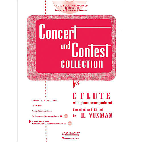 Hal Leonard Rubank Concert And Contest Collection - Flute (Book/CD)-thumbnail