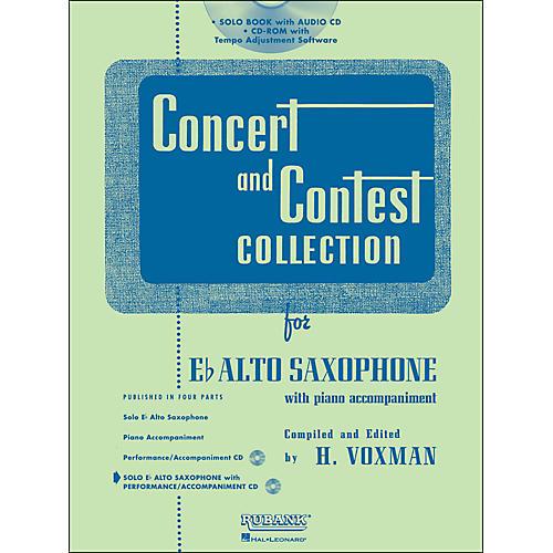 Hal Leonard Rubank Concert And Contest Collection Alto Sax Book/Online Audio