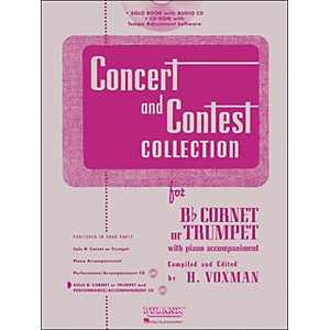 Hal Leonard Rubank Concert and Contest Collection Trumpet/Cornet Book/Onlin...
