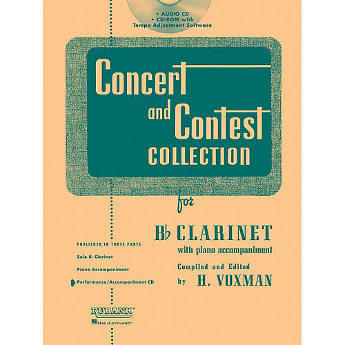 Hal Leonard Rubank Concert And Contest For Clarinet - Accompaniment CD-thumbnail