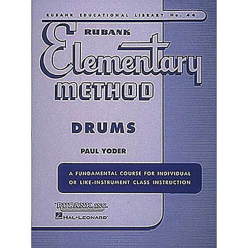 Hal Leonard Rubank Elementary Method - Drums Book-thumbnail