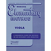 Hal Leonard Rubank Elementary Method - Viola