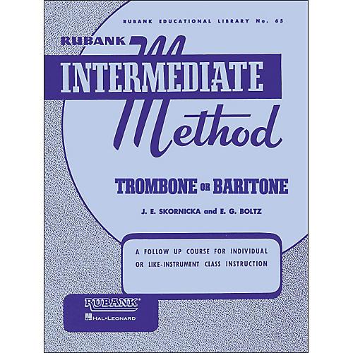 Hal Leonard Rubank Intermediate Method Trombone Baritone-thumbnail