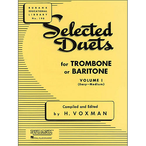 Hal Leonard Rubank Selected Duets Trombone Or Baritone Vol 1 Easy/Medium