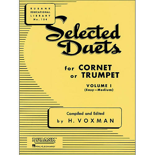 Hal Leonard Rubank Selected Duets for Cornet Or Trumpet Vol 1 Easy/Medium-thumbnail