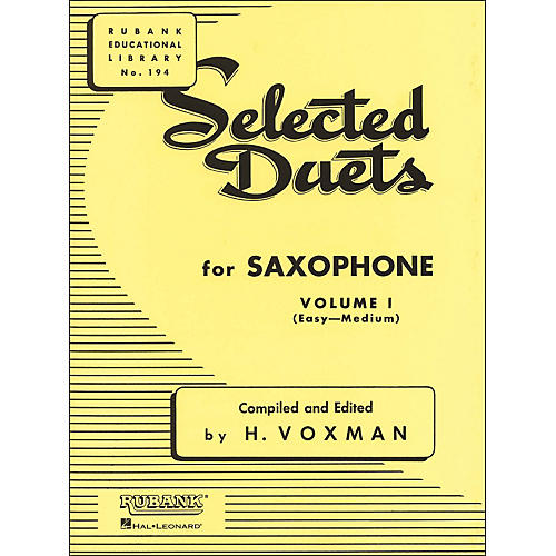Hal Leonard Rubank Selected Duets for Saxophone Vol 1 Easy/Medium