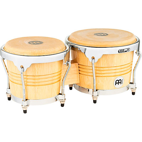 Meinl Rubber Wood Bongos with Chrome Hardware Natural-thumbnail