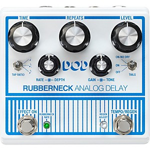 DOD Rubberneck Analog Delay Pedal with Tap Tempo by DOD
