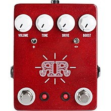JHS Pedals Ruby Red 2-in-1 Overdrive Boost Butch Walker Signature Pedal Level 1